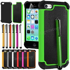 Heavy Duty Hybrid Rugged Hard Case Cover For Apple iPhone 5C Screen Pr