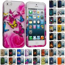 For iPhone 5S 5 5G Hard Snap-On Design Rubberized Case Cover Skin Acce