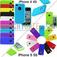 Embossed Circle Rubber Silicone Soft Case Cover Skin For Apple iPhone 4 4S 5 5S