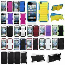Black,White,Pink,Purple Hybrid Silicone Soft Hard Case For iPhone 5 5S