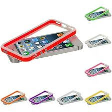 Color White TPU Bumper Case Cover w, Metal Buttons for iPhone 5 5G 5th