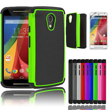 Hybrid Impact Rugged Rubber Matte Hard Case Cover For Motorola Moto G