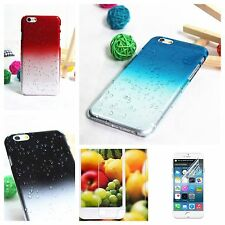 """Apple iPhone 6 case 4.7"""" Thin Crystal Clear Hard Cover Rain Water drop"""