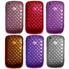 Transp TPU Diamond Rubber Gel Case for Blackberry Curve 8520 8530 9300