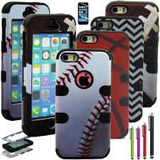Shockproof Dust Dirt Proof Hard Matte Cover Case For iPhone 5 5S +Scre