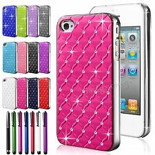 Diamond Bling Chrome Rhinestone Gem Hard Case Cover Protector For iPho