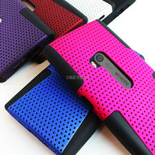 For AT&T Nokia Lumia 920 Colorful APEX Hybrid Gel Hard Net Case Cover