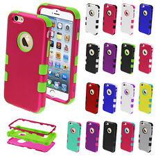 "For iPhone 6 4.7"" , 6 Plus 5.5"" Shockproof Rugged Hybrid Rubber Hard C"