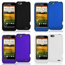 Color Hard Snap-On Rubberized Skin Case Cover Accessory for HTC One V