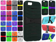 For Apple iPhone 6 4.7 Hard Gel Rubber KICKSTAND Case Phone Cover Accessory