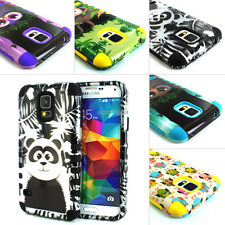 For Samsung Galaxy S5 SV Hybrid Armor Rugged Combo Matte Hard Soft Rubber Case
