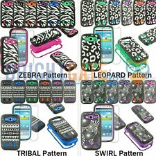 Hybrid Pattern Hard Soft Combo Case Cover For Samsung Galaxy S3 SIII i9300 +Film