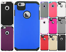 Apple iPhone 6 Plus 5.5 HARD Hybrid Rubber Silicone Case Cover +Screen Protector