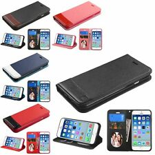 For iPhone 6 4.7-inch PU Leather Credit Card Slot Wallet Stand Flip Cover Case