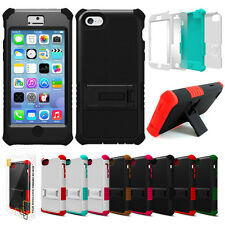 For Apple iPhone 5C Tri Shield Rugged Hybrid Defender Hard Case Cover