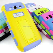 For Samsung Galaxy S III 3 Rugged Hybrid Rubber Matte Hard Cover Case