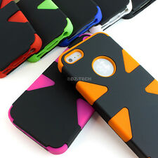 For Apple iPhone 5S 5 Dynamic Tuff Impact Armor Hybrid Hard Soft Case