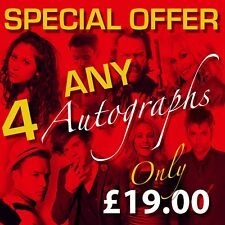 SPECIAL OFFER ANY 4 Autographs For ONLY £15.99 Prints (Framed & CDs Not Included