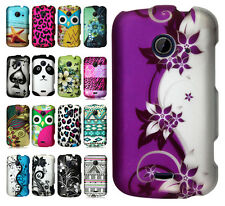 T-Mobile ZTE Zinger Rubberized HARD Protector Case Snap Phone Cover Accessory