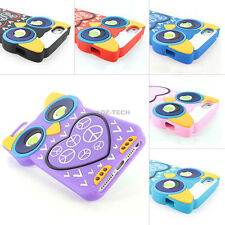 For iPhone 5S 5 3D Colorful Cute Owl Silicone Rubber Gel Skin Soft Case Cover