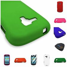 For Samsung Galaxy Amp i407 Hard Rubberized Matte Phone Cover Case