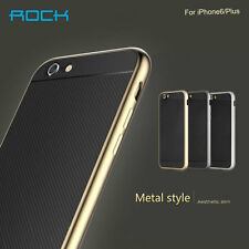 For iPhone 6 4.7 Plus 5.5 Real Metal Bumper Frame Slim TPU Hard Matte Case Cover