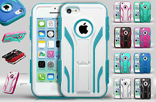 For Apple iPhone 5C IMPACT TUFF HYBRID Extreme Protector Case Skin Phone Cover