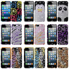 For Apple iPhone 5S 5 Colorful Design Set 1 Bling Diamond Hard Case Cover