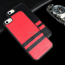 For Apple iPhone 5C Slim Fit Premium Matte PU Leather Hybrid TPU Case Cover