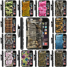 For Apple iPhone 6 Plus 5.5 Holster Clip Case Rugged Hybrid Gel Hard Stand Cover
