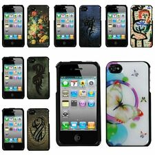 Cute Various Design Pattern Hard Back Case Cover For iPhone 4S 4 Fashion