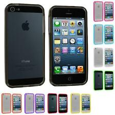 Color Transparent TPU Jelly Bumper Gel Case Skin Gel Cover for iPhone