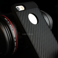 For iPhone 5S 5 Slim Fit Hybrid TPU Carbon Fiber Image Hard Matte Case Cover
