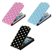 Color Polka Dot Folio Flip Pouch Case Cover for iPhone 5 5G 5S