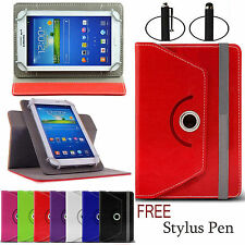 360 Universal Leather Stand Case Cover For Android Tab Tablet For 7inch 8inch