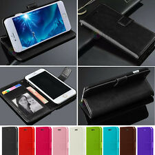 PU Leather Flip Credit Card Holder Stand Skin Wallet Case Cover For iPhone 5S