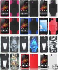 Quality Phone Cover SILICONE , T-STAND Case FOR  Sony Xperia Z , Yuga
