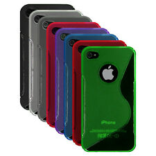 S-Line TPU Rubber Silicone Gel Case Cover for iPhone 4S, iPhone 4