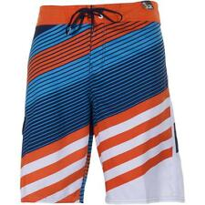 Billabong Slice Board Shorts Mens Orange Blue Striped Shorts Boardshorts New NWT