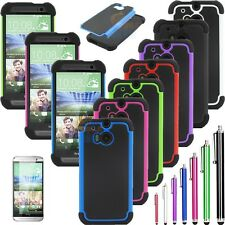 For New HTC One M8 Rugged Gel Matte Impact Hard Protective Case Cover