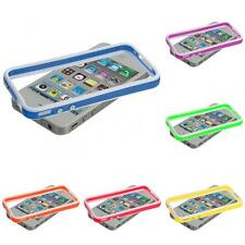 Color TPU Bumper Frame Jelly Case Cover with Metal Buttons for iPhone