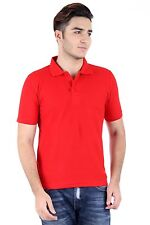 Men'S Red Polo T-Shirt 100% Cotton Thick Pick Dyed (Rpt-36)