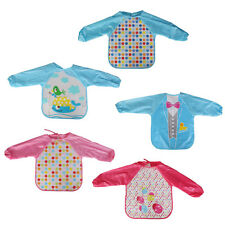 Kids Baby Unisex Waterproof Over clothes Lunch Feeding Saliva Soft Apron Cloth