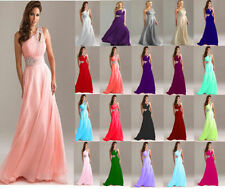New Formal Long Evening Gown Party Prom Bridesmaid Dress Size 6 8 10 12 14 16 18