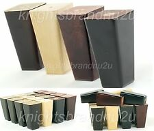 4x WOODEN REPLACEMENT LEGS FURNITURE FEET FOR SOFA, CHAIR, SETTEE 120mm HIGH