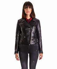 Giubbotto Giacca Pelle Chiodo Donna Women Leather Jacket Veste Cuir BARBARA