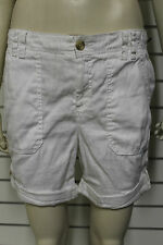 Abercrombie & Fitch Womens white linen combat style shorts size 10 153-427-009