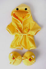 Teddy Bear DUCK Robe & Slippers CLOTHES Fit 14