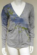 GUESS Loungewear womens cotton tie waist grey jumper top sweater size S UO4F50