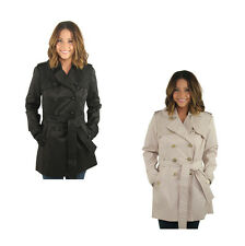 Jessica Simpson Women's Lace Trim Trench Coat Jacket